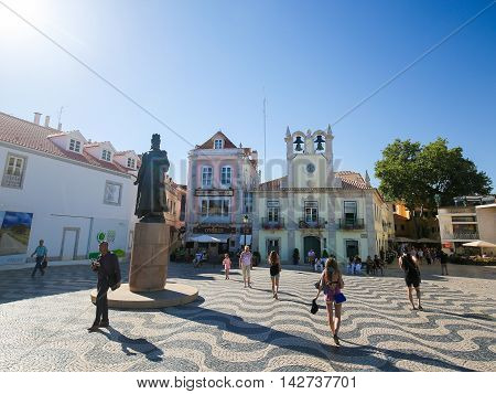 Central Square In Cascais, Portugal