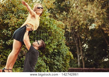 Girl Falling Caught By Boyfriend.