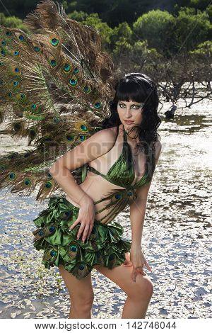 girl bird in the Green swamp fashion