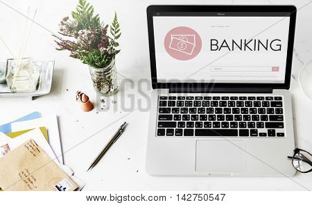 Shopping Banking Accounting Webpage Text Search Concept