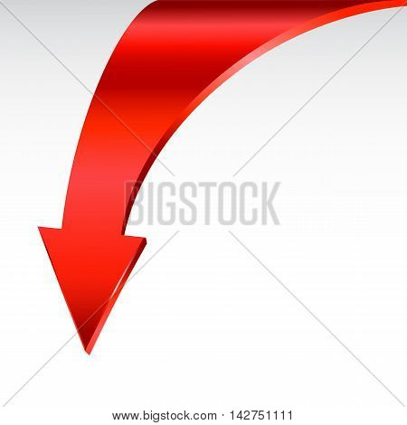 Red arrow symbol and neutral white background