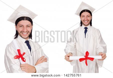 Young man ready for university graduation
