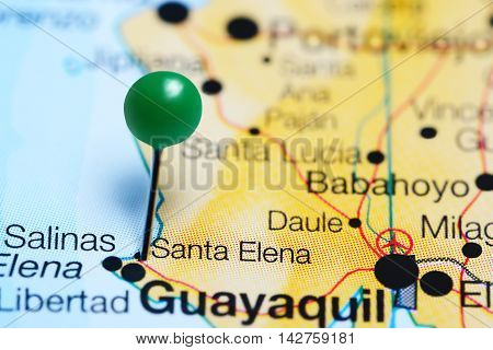 Santa Elena pinned on a map of Ecuador