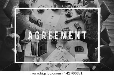 Agreement Agreed Support Teamwork Concept