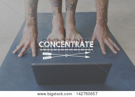 Concentrate Focus On Goal Target Attention Concept