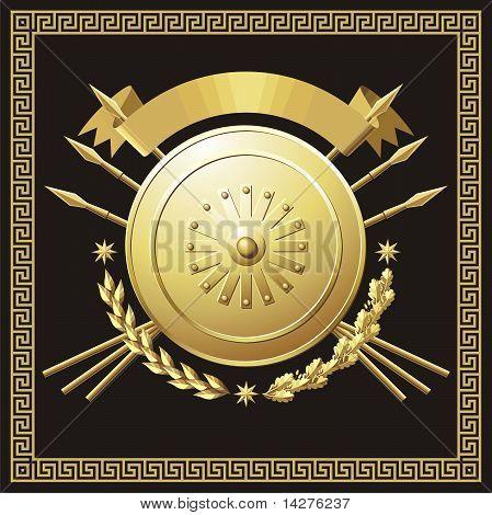 Gold buckler