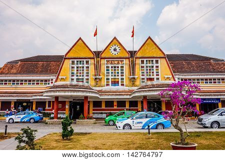 DA LAT, VIETNAM - 11 MARCH 2016: Dalat Railway Station. This station is famous place history destination for tourist.