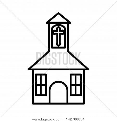 church building religion belief icon. Isolated and flat illustration.