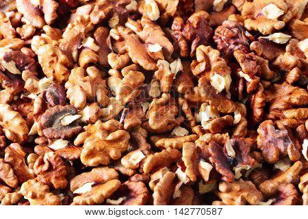 scene Image beautiful peeled ripe fruit walnuts