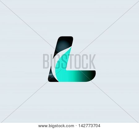 Letter L logo. Letter L logo icon design template elements