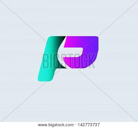 Letter P logo. Letter P logo icon design template elements
