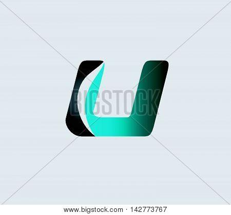 Letter U logo. Letter U logo icon design template elements