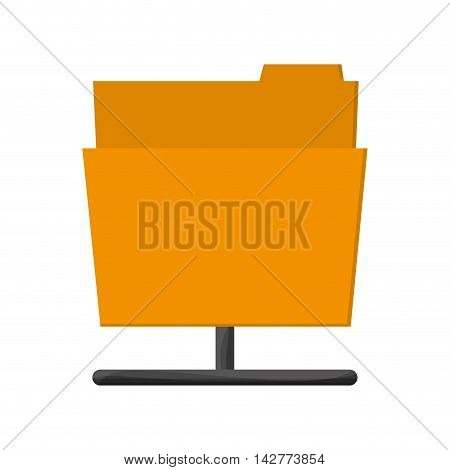 flat design file folder icon vector illustration