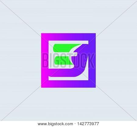 Number three 3 logo vector  design illustration