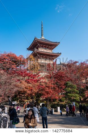 Kiyomizudera Temple Is One Of The Most Famous Temple In Japan .in 1994, The Temple Was Added To The