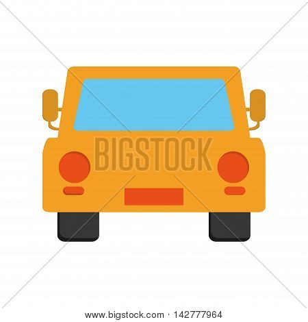 flat design car frontview icon vector illustration