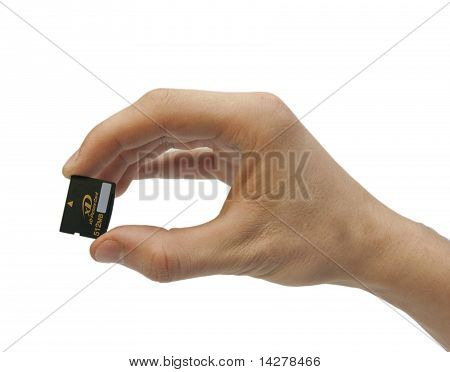 Hand With Memory Card