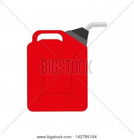 dispenser oil industry petroleum gasoline icon. Isolated and flat illustration. Vector graphic