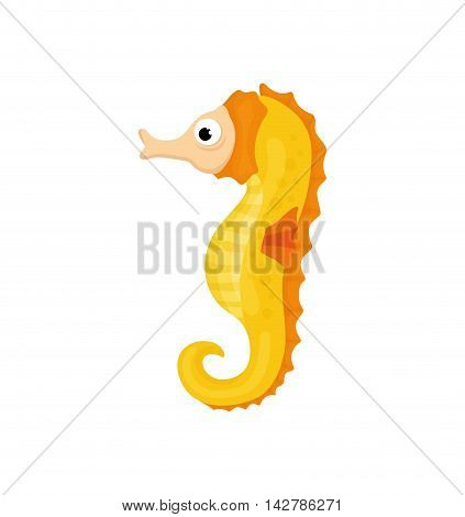 sea horse life animal cartoon icon. Isolated and flat illustration. Vector graphic