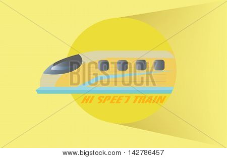 Vector - High Speed Train symbol yellow color