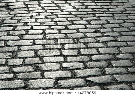 Cobbles on the street - can be used as background