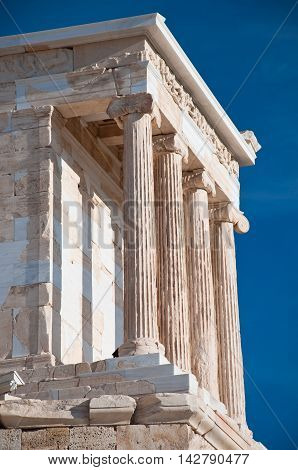 The Temple of Athena Nike. Athens Greece.