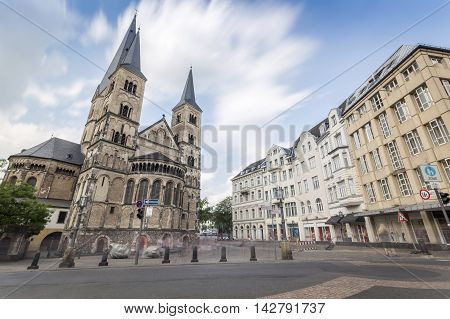 Old roman catholic cathedral in Bonn Germany