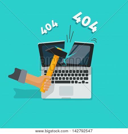 404 error page vector illustration on blue background