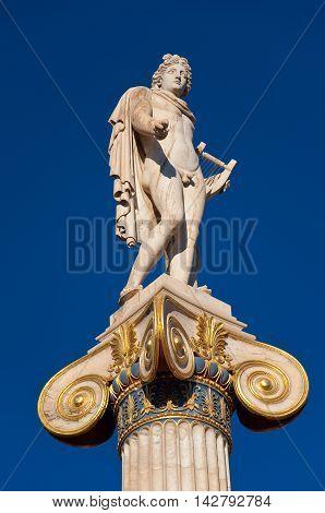 The statue of Apollo. Athens Greece. In the citi centr.