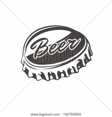 Beer bottle cap. Beer bottle cap icon. Beer bottle cap symbol. Beer bottle cap sign.
