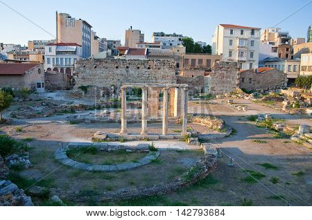 Roman Agora and the Tower of the Winds on August 4 2013 in Athens.