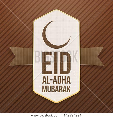 Eid al-Adha Mubarak festive Tag. Vector Illustration