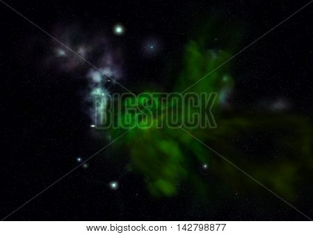 Far being shone nebula and star field against space. Elements of this image furnished by NASA .