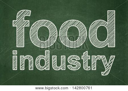 Industry concept: text Food Industry on Green chalkboard background