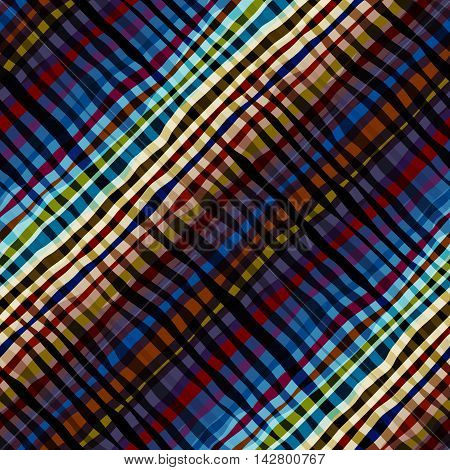 Seamless background pattern. Abstract diagonal plaid pattern.