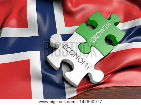 Norway economy and financial market growth concept, 3D rendering