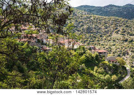 Small Village in Arkadia, Peloponnese, Greece .