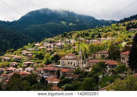 Small Village in Arkadia, Peloponnese Greece .