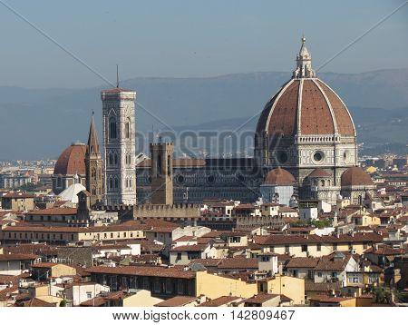 Florence Cathedral aka Duomo di Firenze or Basilica di Santa Maria del Fiore in Florence Italy
