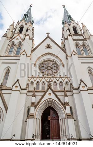 Beautiful Church of John the Baptist in Savannah Georgia