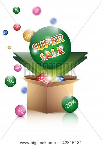 Sale poster isolated on a white background