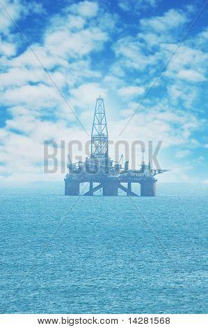 Offshore Oil Rig in the Caspian Sea - more similar photos in my portfolio