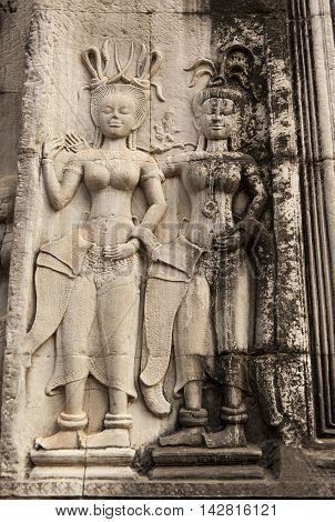 Stone Temple Carvings Showing Intricate Details.
