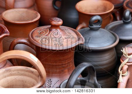 Tableware Made Of Clay