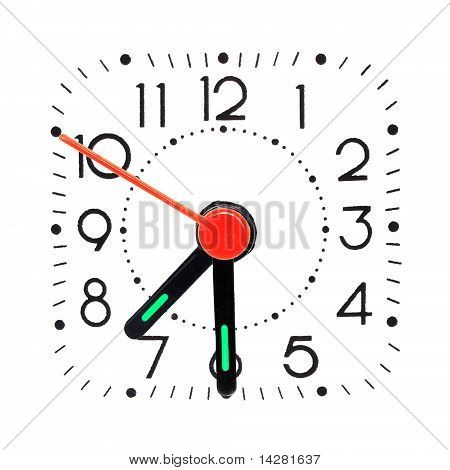 Clock showing half past 7