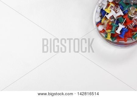 Container of Push Pins