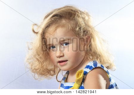 portrait of little beautiful girl, Children photo shoot, smile, happiness, family values