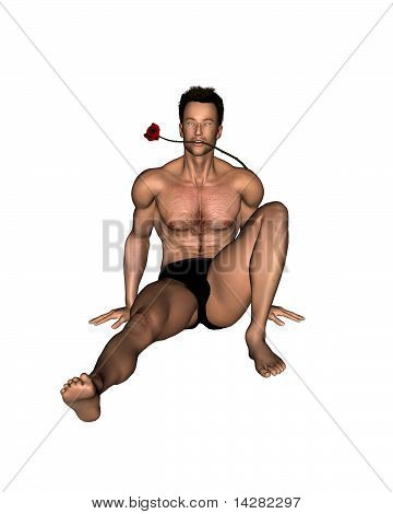 Valentine Guy with Rose