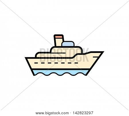 Ship cargo icon. Vector illustration of shipping