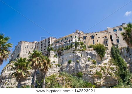 A view of Tropea in Calabria Italy